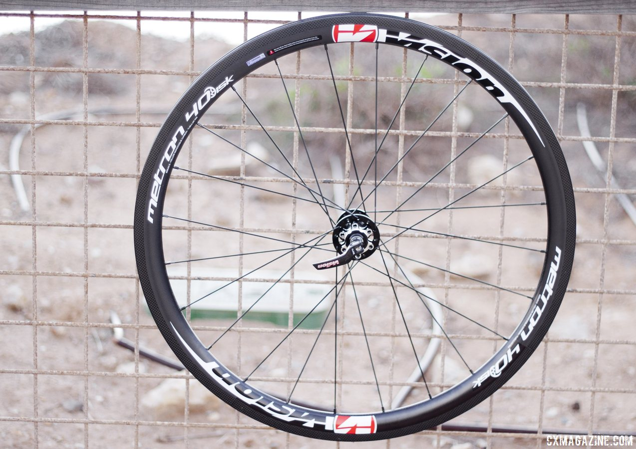 Vision Metron 40 tubular disc rear wheel. © Cyclocross Magazine