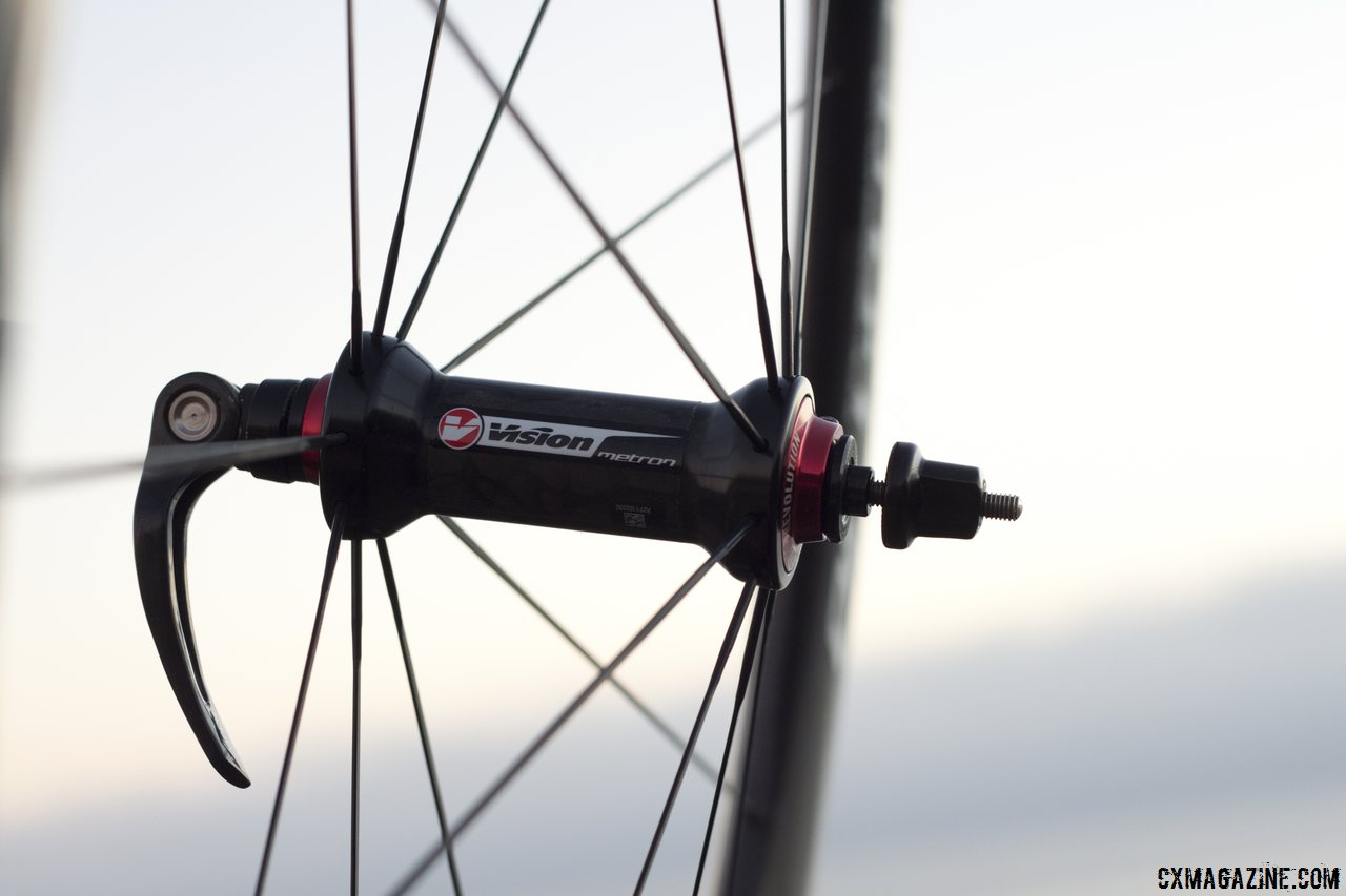 Vision Tech\'s Metron 40 carbon tubular wheels. © Cyclocross Magazine