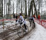Stybar leads countryman Radomir Simunek through the woods. ? Dan Seaton