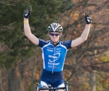 Valentin Scherz takes the elite men's win at Fair Hill. ? dennisbike.com