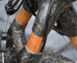 Bamboo means greater shock absorption on the WebbWorks bamboo bike. Southeast Bike Expo 2013 © Cyclocross Magazine