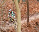 Timothy Johnson solo'ing through the woods.? Tom Olesnevich