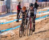 Cheyenne Comer and Aunika Miranda in the Women's 13-14 USA Cycling National Championship race. © Matt Lasala