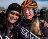 Dorothy Wong and Cheyenne Comer in the Women's 13-14 USA Cycling National Championship race. © Matt Lasala