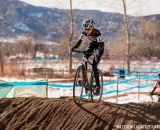 Grace Bishop in the sand in the Women's 13-14 USA Cycling National Championship race. © Matt Lasala