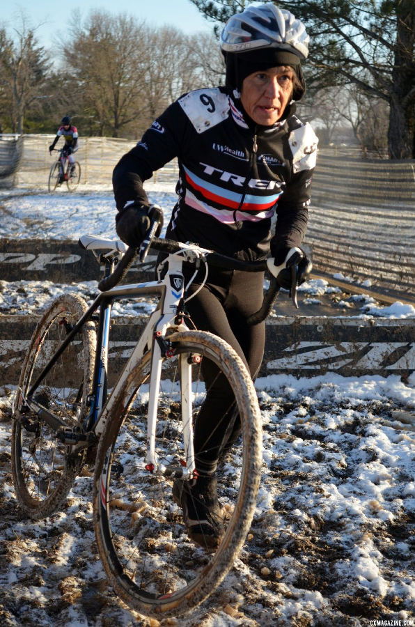 Diane Ostenso, the 60-64 Nat\'l Champion at the 2013 Masters World Championships of Cyclocross. © Cyclocross Magazine