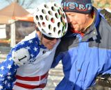 Kathy Sarvary was exhausted after a dramatic race finish at 2013 Masters World Championships of Cyclocross. © Cyclocross Magazine