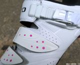 Two velcro straps and the ratcheting buckle keep you secure in the Women's Giro Sica MTB Shoe. © Cyclocross Magazine