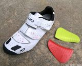 Options for the insole on the Women's Giro Sica MTB Shoe. © Cyclocross Magazine