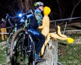 Kissing the blow-up dolls at the log barrier? Why not. © Matthew Lasala