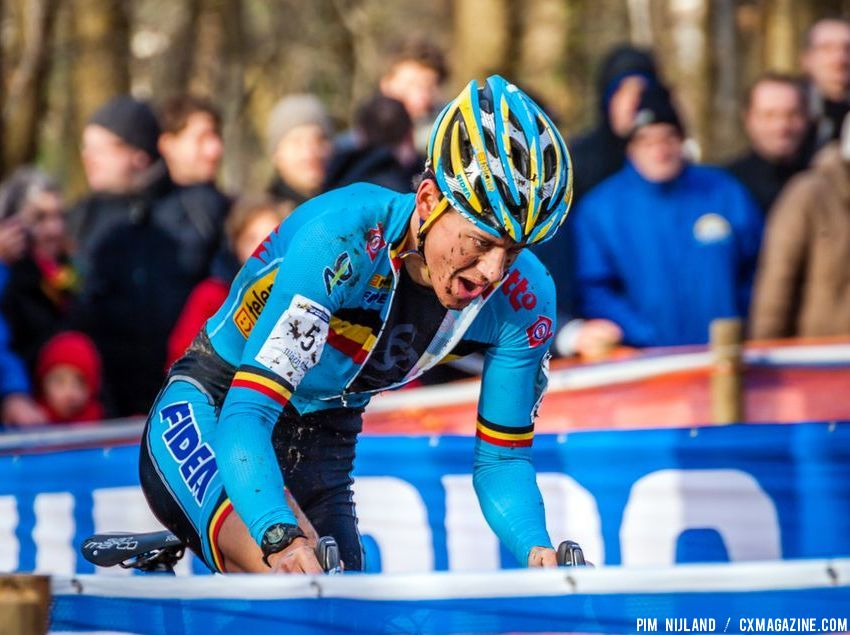 Tom Meeusen with game face on in the second lap at 2014 World Championships. © Pim Nijland