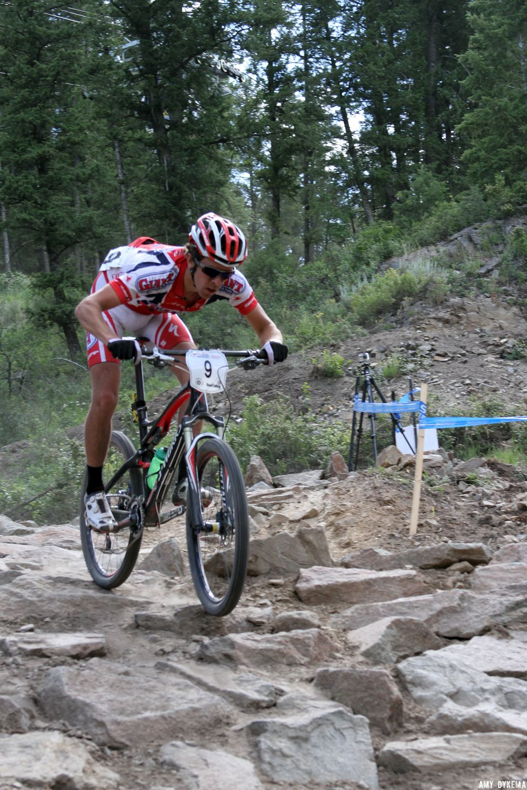 Nick Weighall (34th) of Cal Giant in the rock drop. ©Amy Dykema
