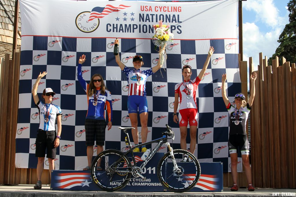 Women\'s Podium. ©Amy Dykema