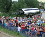 The crowds line up to watch the race. ©Amy Dykema