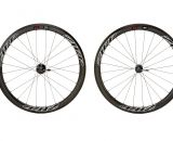Non drive side view: Zipp's 303 Firecrest disc brake carbon tubular wheelset. photo: Zipp