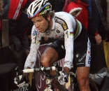 Albert took up the chase but could never reach Pauwels. 2009 Zolder Cyclocross World Cup. ? Bart Hazen