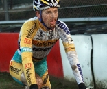 Kevin Pauwels on his way to the win. 2009 Zolder Cyclocross World Cup. ? Bart Hazen