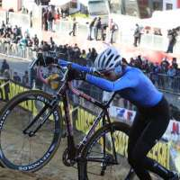 Vardaros on the tough hill that few could ride. by Bart Hazen