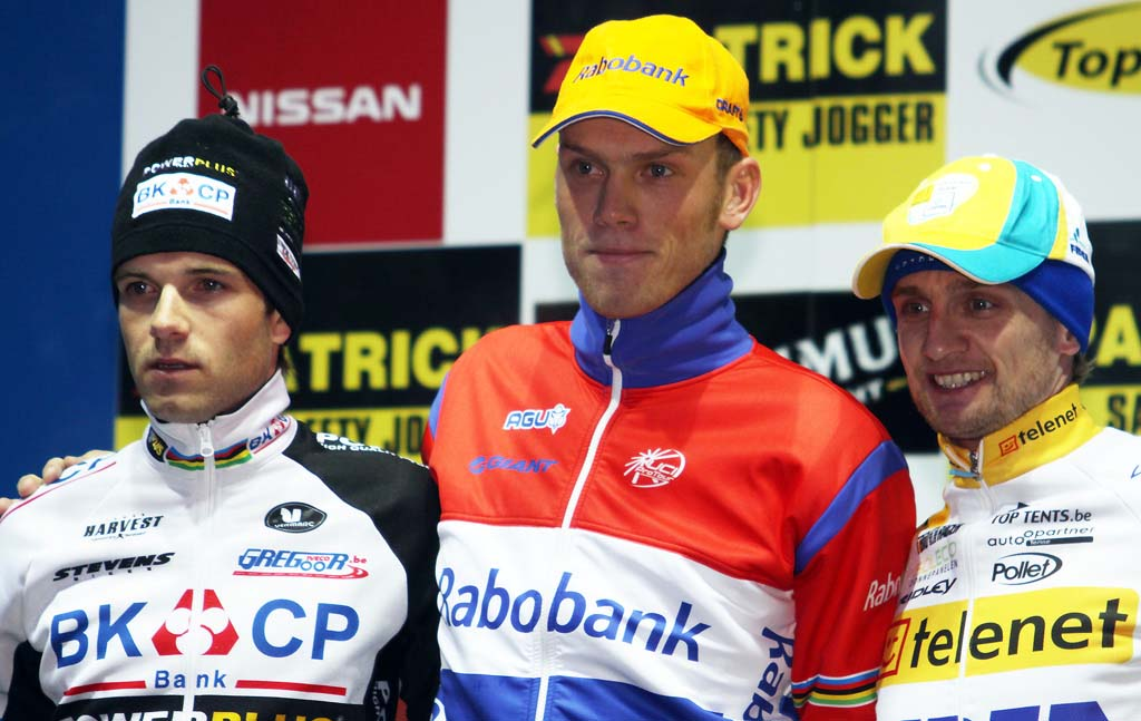 Albert, Boom and Wellens on the podium in Zolder. © Bart Hazen