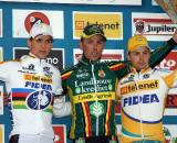 Stybar (l), Nys and Pauwels on the podium. ? Bart Hazen
