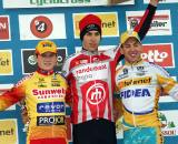 The U23 podium in Zonhoven. ? Bart Hazen