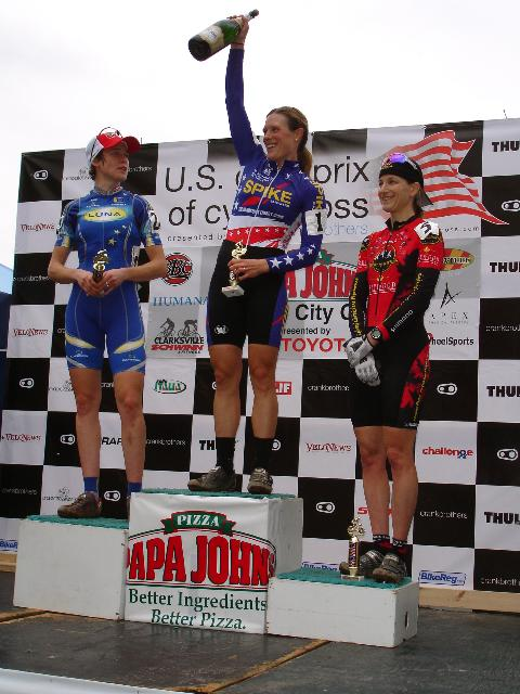 Women's Podium - 1: Compton 2: Gould 3:Sydor  by Mark Legg Images