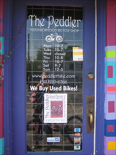 Local Bike Shop by http://flickr.com/photos/chainsawpanda/