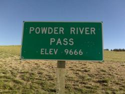 Powder River Pass via a 'cross bike with gear