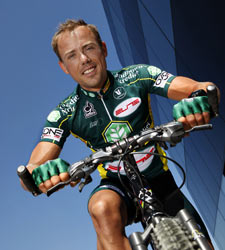 Sven Nys on his MTB, courtesy of Lotte Vanreusel
