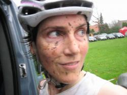 Christine Vardaros after Asper-Gavere Super Prestige Cyclocross Race