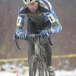 Todd Wells solos to win Jingle Cross Day 2. Snow made the course challenging for Day 2.  Steve Fry