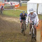 Hanka Kupfernagel leads Katie Compton in Nommay, by Mark Legg-Compton