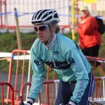 Molly Cameron pre-riding at the Zolder World Cup, by Niels Dewitt