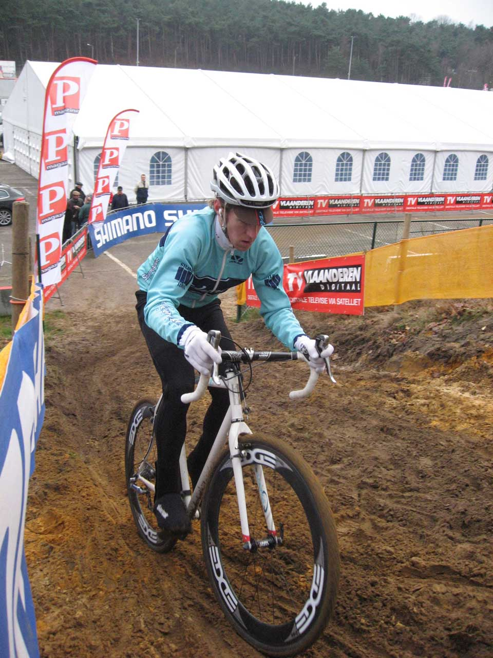 Molly Cameron pre-riding in Zolder. by Niels Dewit
