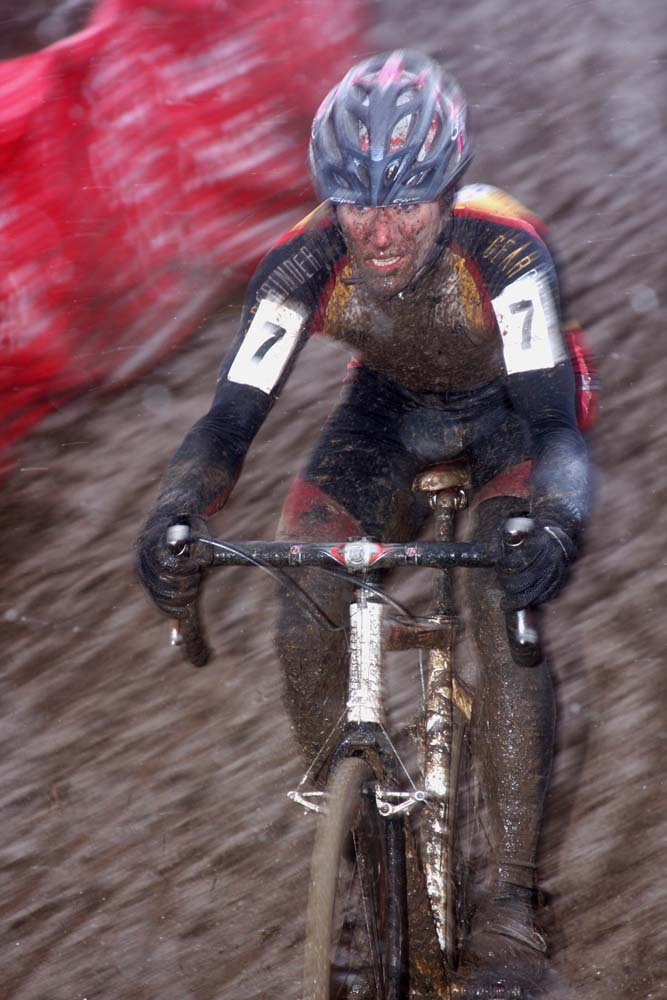 Here, Brian Matter Racing to 5th at Jingle Cross Day 2. © Amy Dykema