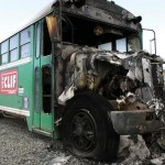 Clif Bar Cyclocross Team Bus destroyed in Boulder fires. by Ben Turner