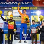 Junior Podium of Roubaix World Cup 2009, by Joe Sales