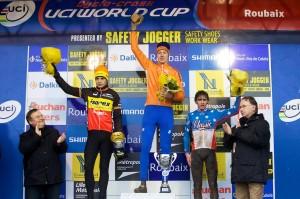 Junior Podium of Roubaix World Cup 2009, Photo by Joe Sales