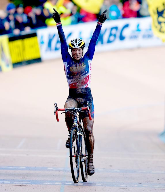 Katie Compton wins the Cyclocross World Cup in Roubaix. by Joe Sales