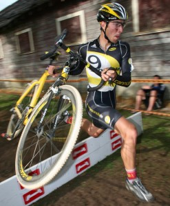 Jeremy Powers flies over the hurdles at the Rad Racing GP. by Andrew Yee
