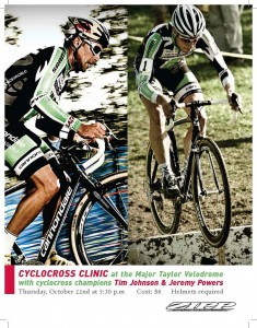 jeremy powers and tim johnson cyclocross clinic