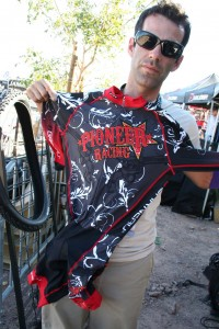 Travis McMaster shows off the new Pioneer Racing kit. © Cyclocross Magazine