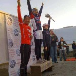 The women's podium: Miller, Wentworth and Studley