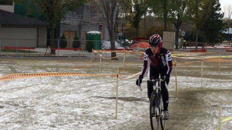 Vicki Thomas at the Canadian Cyclocross National Championships in Edmonton. by Paul Thomas