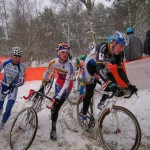 Erwin Verveck will race his final Belgian National Championships. He raced well at Kalmthout in the snow. © Inge Schenck