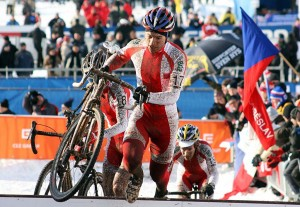 The Polish Szczepaniak brothers dominated the U23 World Championship race in Tabor. © Bart Hazen