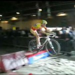 Jumps spiced up the indoor, season-ending Cyclocross Masters race