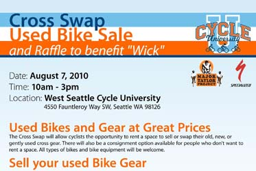 Cycle U's Bike Swap, Cyclocross Bike Sale, and Benefit Raffle