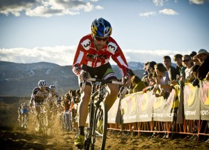 Tim Johnson shows off his NACT Leader's jersey in Boulder. © Studio Mp Production