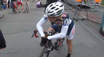 Sue Butler, post-race in Plzen
